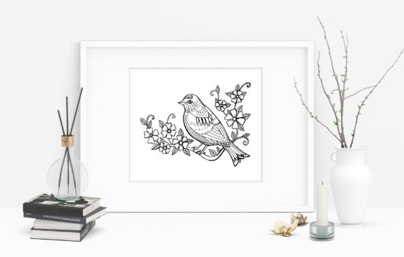 Spring Bird Coloring Page Graphic Coloring Pages & Books Adults By NataliMyaStore - Image 3