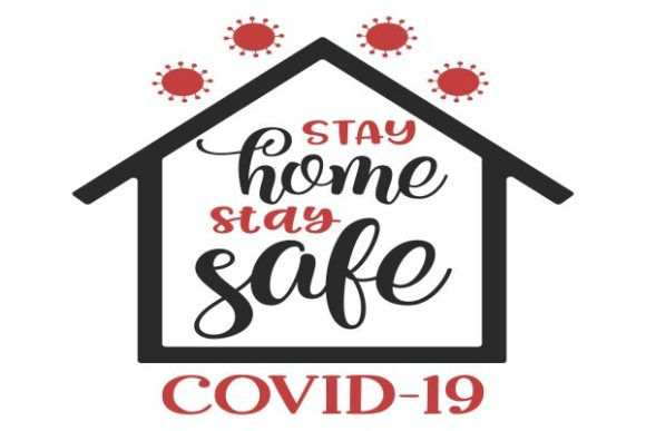 Print on Demand: Stay Home Stay Safe Graphic Crafts By fantasycliparts - Image 1