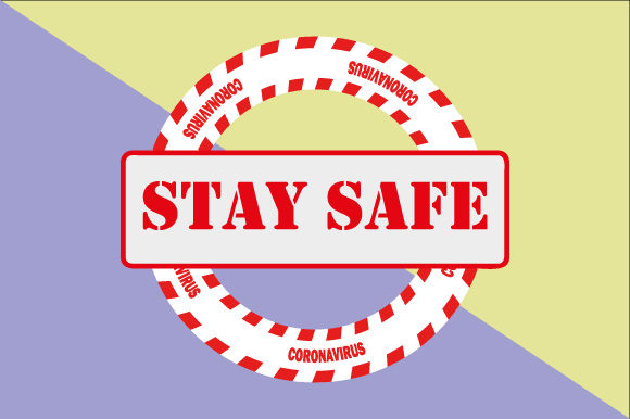 Download Free Stay Safe Graphic By Graphicsfarm Creative Fabrica SVG Cut Files