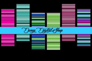 Stripes Colorful Bookmarks Graphic Patterns By denysdigitalshop