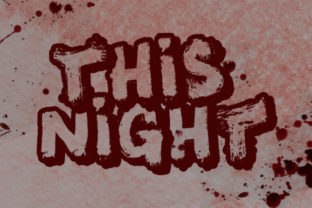 Print on Demand: This Night Blackletter Font By qkila 1