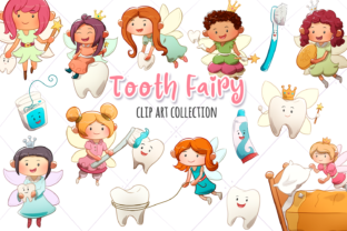 Print on Demand: Tooth Fairy Clip Art Collection Graphic Illustrations By Keepinitkawaiidesign