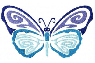 Tribal Ombre Butterfly Bugs & Insects Embroidery Design By Sookie Sews