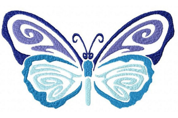 Tribal Ombre Butterfly Bugs & Insects Embroidery Design By Sue O'Very Designs