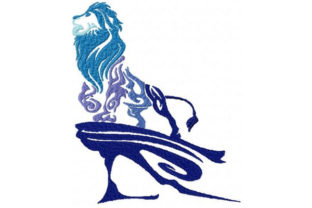Tribal Ombre Lion Wild Animals Embroidery Design By Sookie Sews
