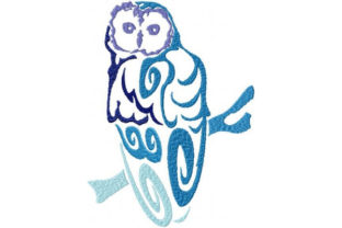 Tribal Ombre Owl Birds Embroidery Design By Sookie Sews