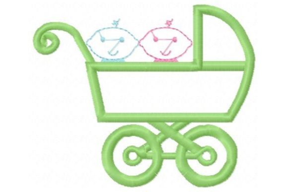 Two on the Way Babies & Kids Embroidery Design By Sue O'Very Designs