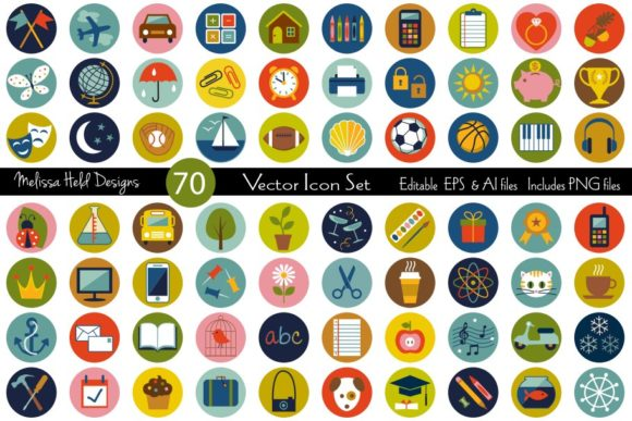 Vector Icons Set Graphic Icons By Melissa Held Designs