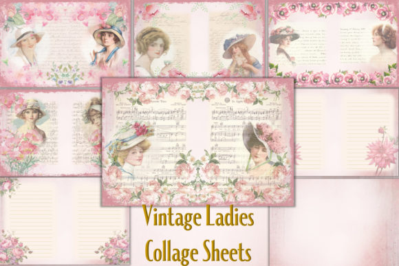 Download Free Shabby Chic Printable Backgrounds Graphic By The Paper Princess for Cricut Explore, Silhouette and other cutting machines.