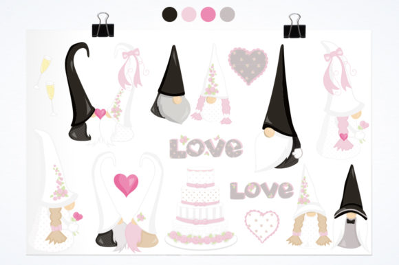 Print on Demand: Wedding Gnome Graphic Illustrations By Prettygrafik - Image 2