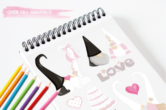 Print on Demand: Wedding Gnome Graphic Illustrations By Prettygrafik - Image 3