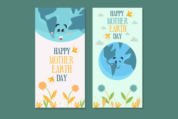 Download Free Banner Mother Earth Day Hand Drawn Graphic By Aprlmp276 for Cricut Explore, Silhouette and other cutting machines.