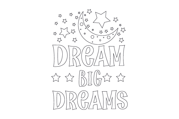 Download Free Dream Big Dreams Svg Cut File By Creative Fabrica Crafts for Cricut Explore, Silhouette and other cutting machines.