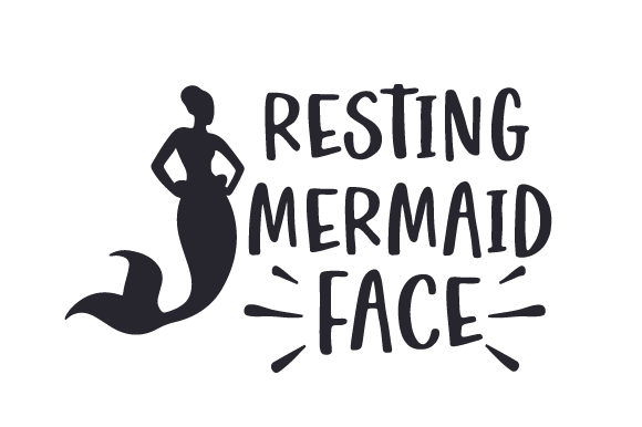 Download Free Resting Mermaid Face Svg Cut File By Creative Fabrica Crafts for Cricut Explore, Silhouette and other cutting machines.