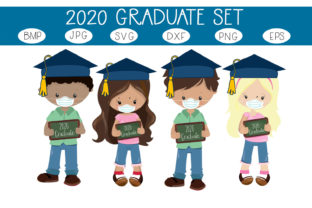 Download Free 2020 Graduates Set Graphic By Capeairforce Creative Fabrica for Cricut Explore, Silhouette and other cutting machines.