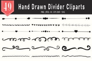 Print on Demand: 45+ Handmade Divider Cliparts Graphic Actions & Presets By Creative Tacos