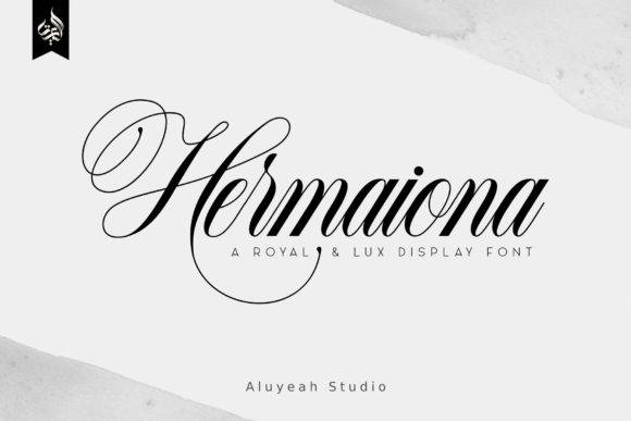 Print on Demand: AL Hermaiona Script & Handwritten Font By Aluyeah Studio