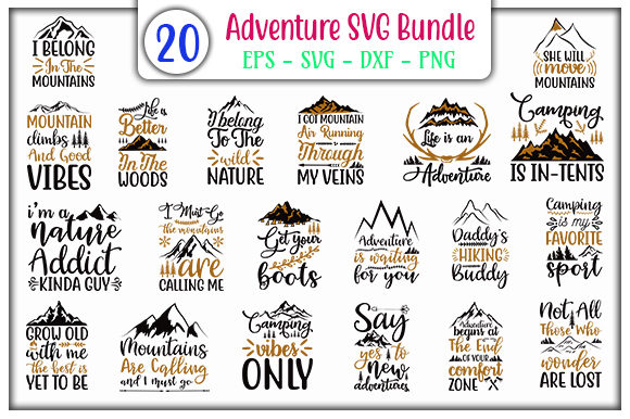 Print on Demand: Adventure Bundle Graphic Print Templates By GraphicsBooth