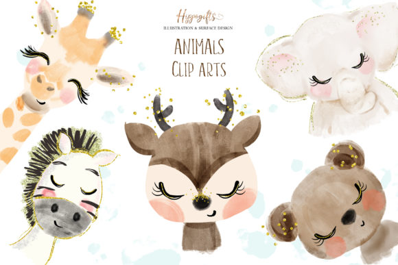 Animals Cliparts Graphic Illustrations By Hippogifts - Image 1