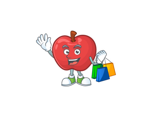 Download Free Apple Cartoon Character Style Graphic By Kongvector2020 Creative Fabrica for Cricut Explore, Silhouette and other cutting machines.
