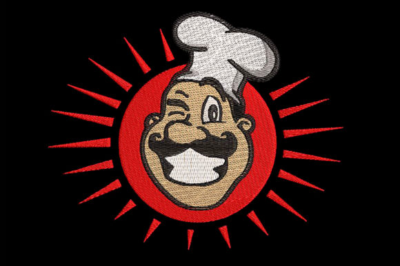 Print on Demand: Awesome Chef, Winking Cheerfully Kitchen & Cooking Embroidery Design By Embroidery Shelter