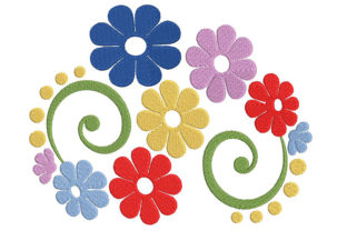 Print on Demand: Awesome Flower Composition Single Flowers & Plants Embroidery Design By Embroidery Shelter