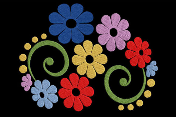 Print on Demand: Awesome Flower Composition Single Flowers & Plants Embroidery Design By Embroidery Shelter - Image 2