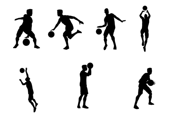 Download Free Basketball Silhouettes Graphic By Silviu S Creative Fabrica for Cricut Explore, Silhouette and other cutting machines.