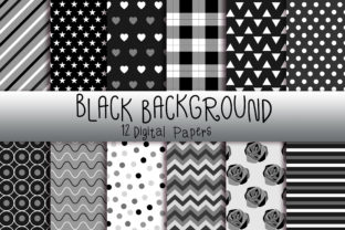 Black Background Digital Papers Graphic Backgrounds By PinkPearly