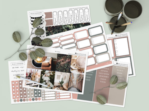 Print on Demand: Blushed | Printable Planner Sticker Kit Graphic Print Templates By planfantastic