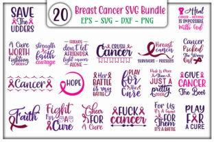 Print on Demand: Breast Cancer Bundle Graphic Print Templates By GraphicsBooth