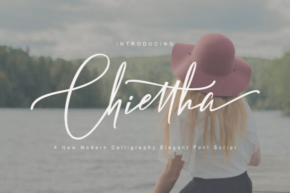 Print on Demand: Chiettha Script & Handwritten Font By Polem