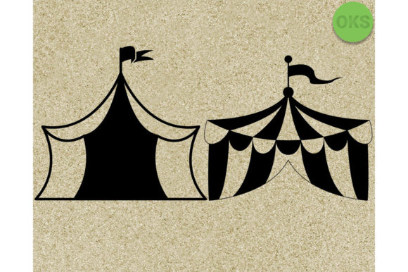Print on Demand: Circus Tent Graphic Crafts By CrafterOks