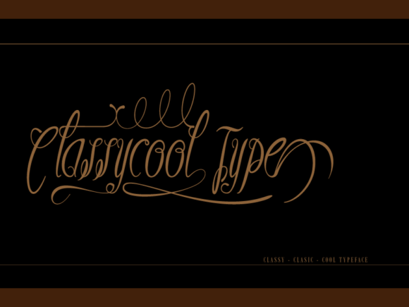 Print on Demand: Classycool Script & Handwritten Font By IntrovArtZone