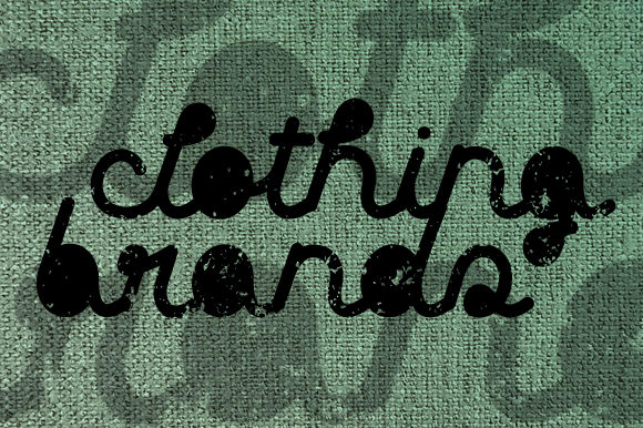 Print on Demand: Clothing Brands Display Font By qkila