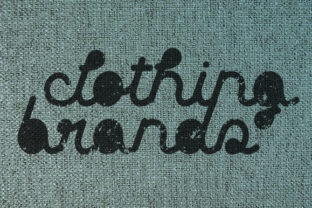 Print on Demand: Clothing Brands Display Font By qkila 2