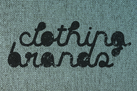 Print on Demand: Clothing Brands Display Font By qkila - Image 2
