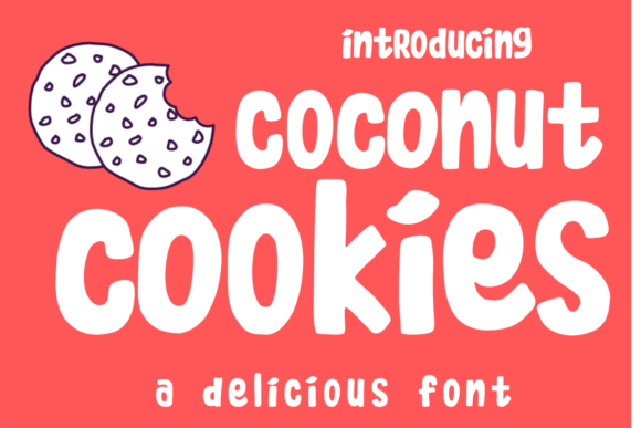 Print on Demand: Coconut Cookies Display Fuente Por estede75