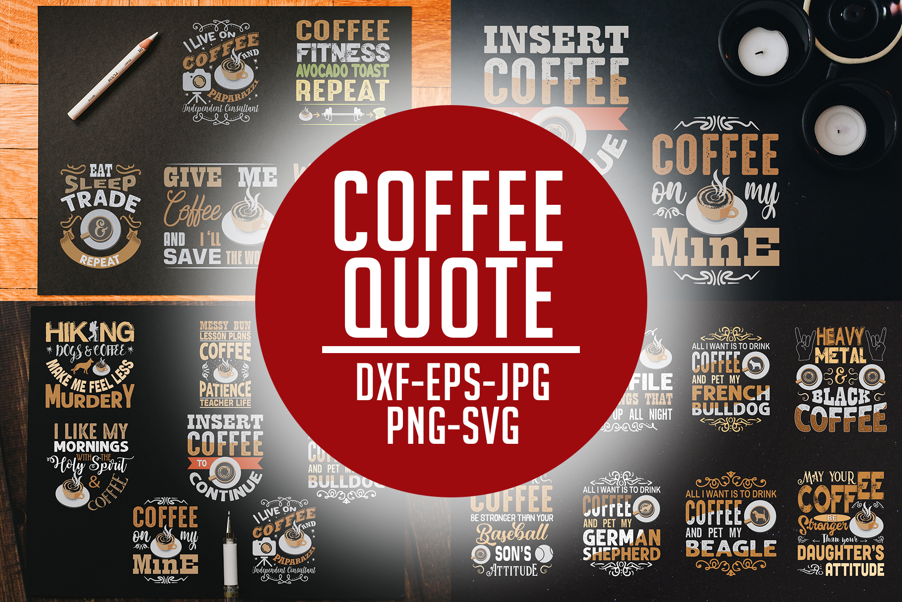 Download Free Coffee Quotes Cricut Vol 7 Graphic By Tosca Digital Creative for Cricut Explore, Silhouette and other cutting machines.