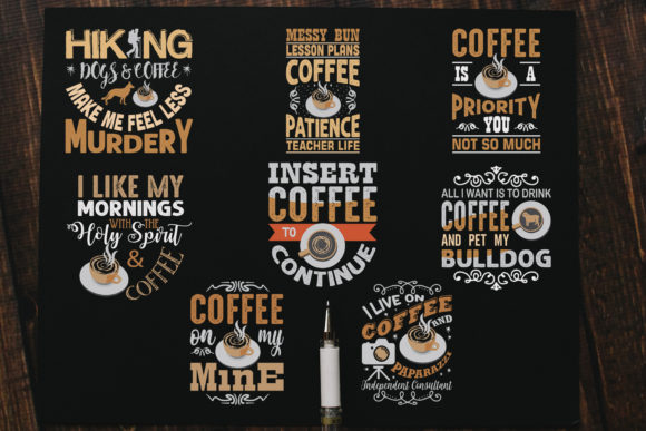 Download Free Coffee Quotes Cricut Vol 7 Graphic By Tosca Digital Creative SVG Cut Files