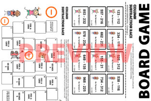 Column Subtraction Board Game Graphic 3rd grade By Saving The Teachers 2