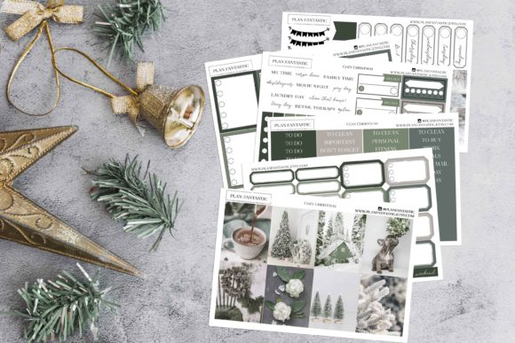 Print on Demand: Cozy Xmas Printable Planner Sticker Graphic Print Templates By planfantastic