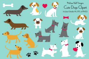 Cute Dogs Clipart Graphic By Melissa Held Designs Creative Fabrica