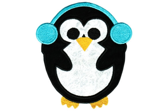 Cute Penguin Birds Embroidery Design By Sue O'Very Designs