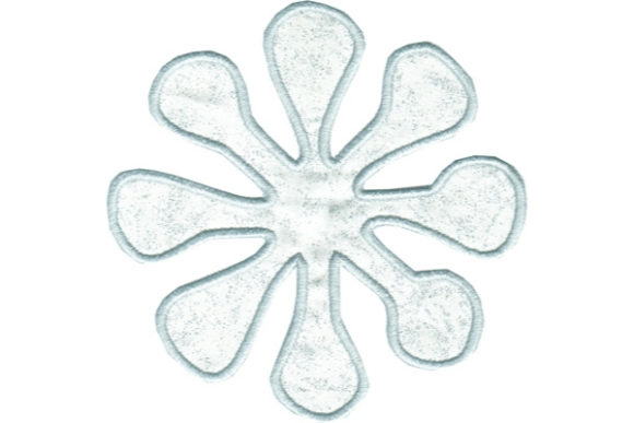 Cute Snowflake Winter Embroidery Design By Sue O'Very Designs