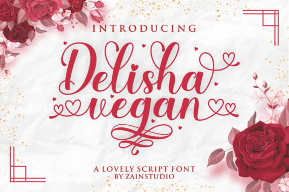 Print on Demand: Delisha Vegan Script & Handwritten Font By zainstudio