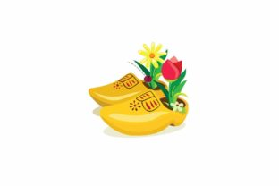 Print on Demand: Dutch Clogs, Traditional Wooden Shoes Graphic Illustrations By aryo.hadi