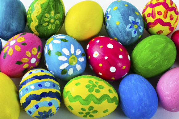 Print on Demand: Easter Background of Multicolored Easter Graphic Holidays By TasiPas