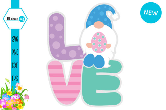 Easter Love Gnome Graphic Crafts By All About Svg