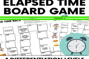 Elapsed Time Problems Board Game Graphic 3rd grade By Saving The Teachers